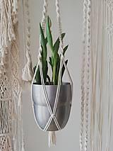 Dekorácie - Macrame držiak na kvetináč 80cm - 10472400_