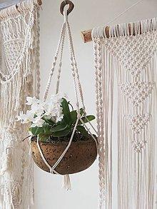Dekorácie - Macrame držiak na kvetináč 75cm - 10473071_