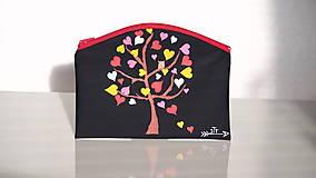 Taštičky - Plátená taštička ručne maľovaná- strom lásky - 10473954_