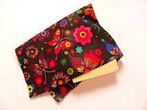 Úžitkový textil - Voskovaný obrúsok - Tmavé motýle - 10475143_