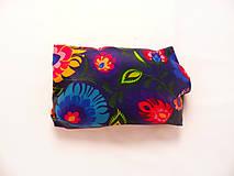 Úžitkový textil - Voskovaný obrúsok - Tmavé kvety (35x30cm) - 10475163_