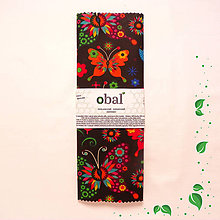 Úžitkový textil - Voskovaný obrúsok - Tmavé motýle - 10475141_