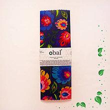 Úžitkový textil - Voskovaný obrúsok - Tmavé kvety - 10475162_