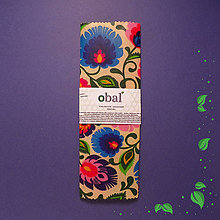 Úžitkový textil - Kruhový voskovaný obrúsok - Kvety folkové - 10475177_