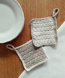Úžitkový textil - Hubky na riad z recyklovanej bavlny - 10473084_