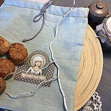 Úžitkový textil - Ľanové vrecko na potraviny - BETKA I - 10473166_