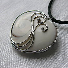 Náhrdelníky - Variácie na srdiečko - Shiva eye - 10473795_