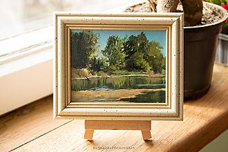 Obrazy - Na brehu rieky Váh - 10472753_