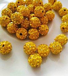 Korálky - Shamballa korálka  (Oranžová) - 10473504_