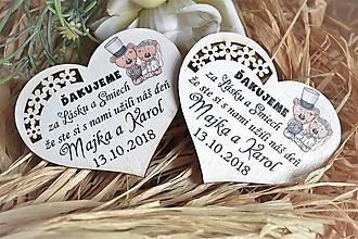 Darčeky pre svadobčanov - Svadobné magnetky - 10473265_