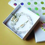 Sady šperkov - LOVE - náramok z minerálov so strážnym anjelikom + náušnice - 10473194_