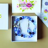 Sady šperkov - TRUST - náramok z minerálov so strážnym anjelikom + náušnice - 10473215_