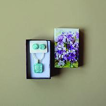 Sady šperkov - Nebo-modrá sada sklenených šperkov - 10471919_