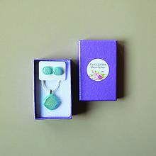 Sady šperkov - Svetlomodrá sada sklenených šperkov - 10472014_