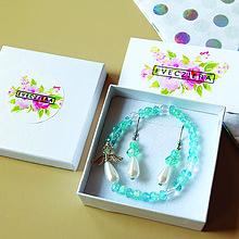 Sady šperkov - HOPE -náramok z minerálov so strážnym anjelikom + náušnice - 10472124_