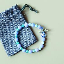 Náramky - BRAVE - náramok z minerálov so strážnym anjelikom + vrecúško - 10474046_