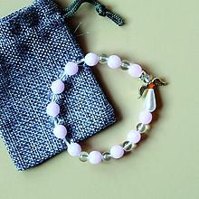 Náramky - HEALING - náramok z minerálov so strážnym anjelikom + vrecúško - 10474227_