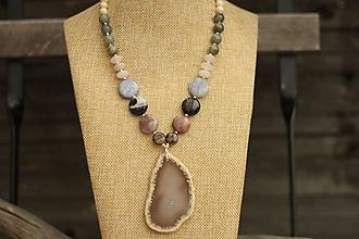 Náhrdelníky - Mohutný náhrdelník z mixu minerálov - 10472030_