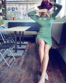 Šaty - Bavlnené šaty s výstrihom na chrbte - 10472712_