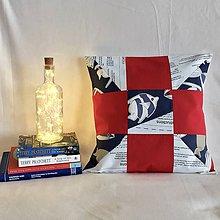 Úžitkový textil - Zbytkúšik - obliečka 40x40cm (rybky) - 10471858_