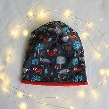 Detské čiapky - Les na hlave, hlava v lese - čiapka - 10473054_