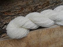 Materiál ručne robený - Ručne postúpená, angora, hodváb, merino, korálky - 10477791_