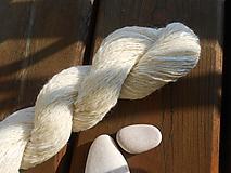 Materiál ručne robený - Ručne postúpená, angora, hodváb, merino, trilobal - 10477823_