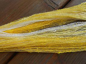 Materiál ručne robený - Ručne postúpená, angora, hodváb, merino, korálky 2 - 10477851_