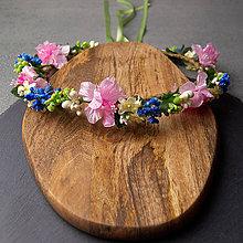 Ozdoby do vlasov - Spring Folklor Pink New ... věnec - 10475828_