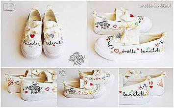 Topánočky - Maľované topánky - 10477504_