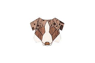 Odznaky/Brošne - Drevená brošňa Australian Shepherd Brooch - 10475648_