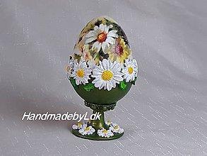 Dekorácie - Vajíčko so stojanom a 3D vzorom - 10476095_