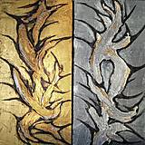 Obrazy - Sculptural gold and silver - 10477922_