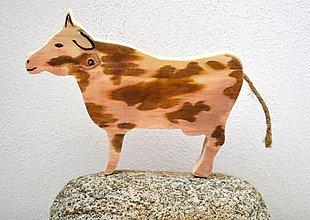 Dekorácie - Drevená krava - 10475649_
