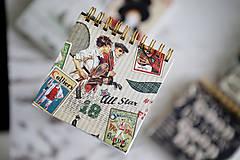 Papiernictvo - Retro zápisníčky - 10477580_