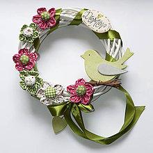 Dekorácie - Veniec / venček - Vtáčik Čimo 2 - 10476063_