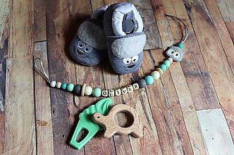 Topánočky - darčekový set pre dieťatko (ovečky) - 10475874_