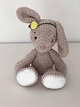 Hračky - Háčkovaný zajko Lou / Crochet bunny Lou - 10476920_