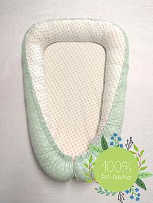 Textil - Luxusné hniezdo pre novorodenca z BIO bavlny -  hviezdičky - 10478696_