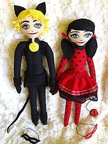 Hračky - kúzelná Beruška a čierny Kocúr - vyrobené na objednávku - 10475488_