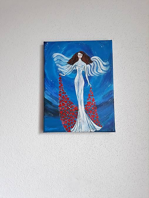 Obraz: Anjel, 18 x 24 cm