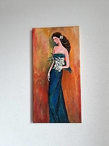 Obrazy - Obraz, Žena Clea, 20 x 40 cm - 10475761_