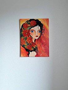 Obrazy - Obraz: Kveta, acryl, 30 x 40 cm - 10476051_