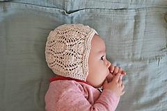 Detské čiapky - Čepček pre bábätko - newborn bavlna/merino - 10477103_