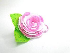 Ozdoby do vlasov - Gumička (Ruža- ružové varianty) - 10476768_