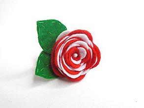 Ozdoby do vlasov - Gumička (Ruža- červené varianty) - 10476784_