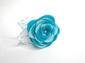 Ozdoby do vlasov - Gumička (Ruža- modré varianty) - 10476803_