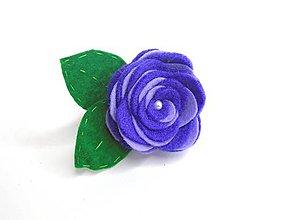 Ozdoby do vlasov - Gumička (Ruža- fialové varianty) - 10476826_