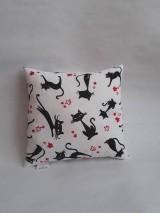 Textil - Vankúšik mini - mačky - 10477171_