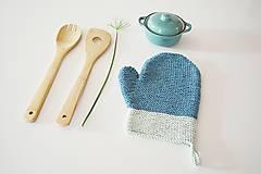 Úžitkový textil - Kuchynská rukavica - modrá - 10476431_